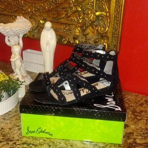 Sam Edelman Delano Leather/Suede Sandals